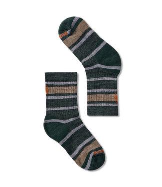 Smartwool Hike Light Striped Crew Socks Dark Sage