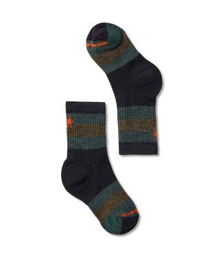 Smartwool Hike Medium Striped Crew Socks Black