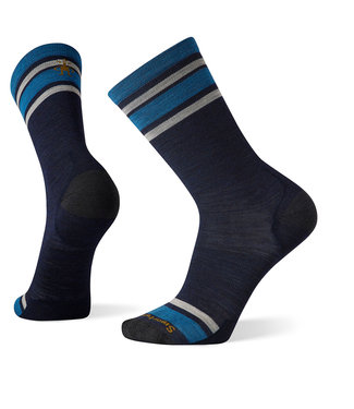 Smartwool Everyday Top Split Stripe Crew Socks Deep Navy