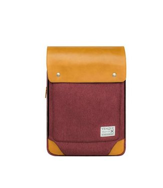 Venque Venque Flatsquare Mini  Red & Tan