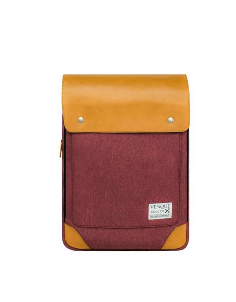 Venque Venque Flatsquare Mini  Rouge & Tan SAC8300017