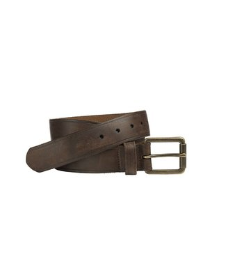 Johnston & Murphy BURNISHED ROLLER BUCKLE BROWN