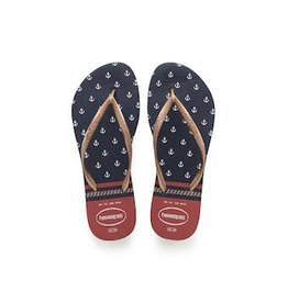 HAVAIANAS HAVAIANAS SLIM NAUTICAL MARINE&ROUGE