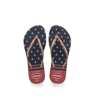 HAVAIANAS HAVAIANAS SLIM NAUTICAL NAVY & RED