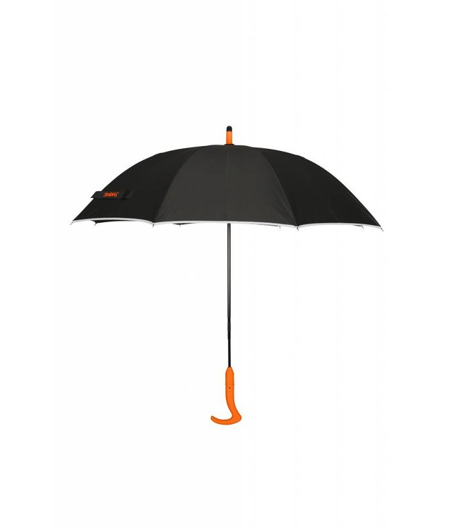 Swims Swims Parapluie Large Noir & Orange