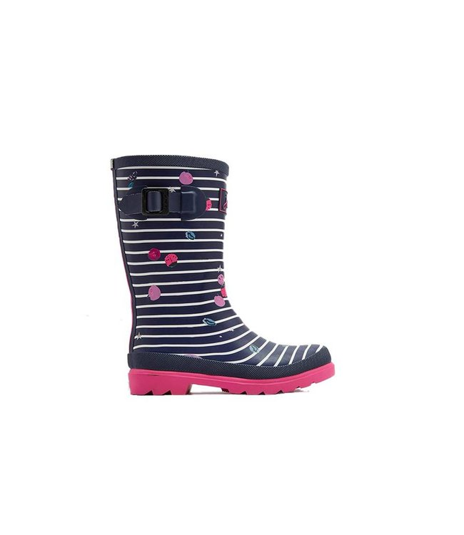 JOULES Joules Girl's Wellies Berry Stripe