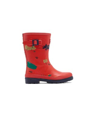 Joules Boy's  Wellies Red Dino