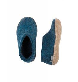 Glerups Glerups Kids Shoe leather sole  Petrol