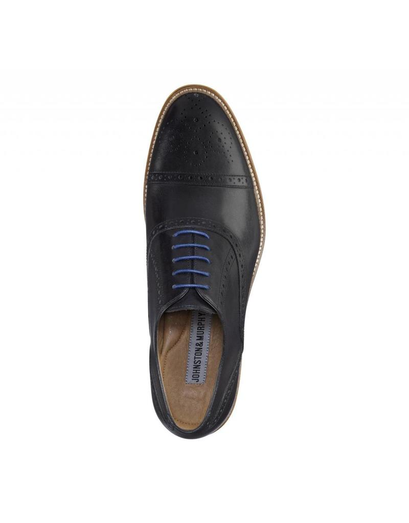 Johnston & Murphy Johnston & Murphy Conard Cap Toe Noir STH13107041