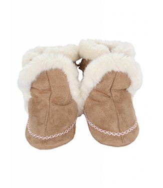 Robeez Robeez Classic Booties Fab Folk Taupe