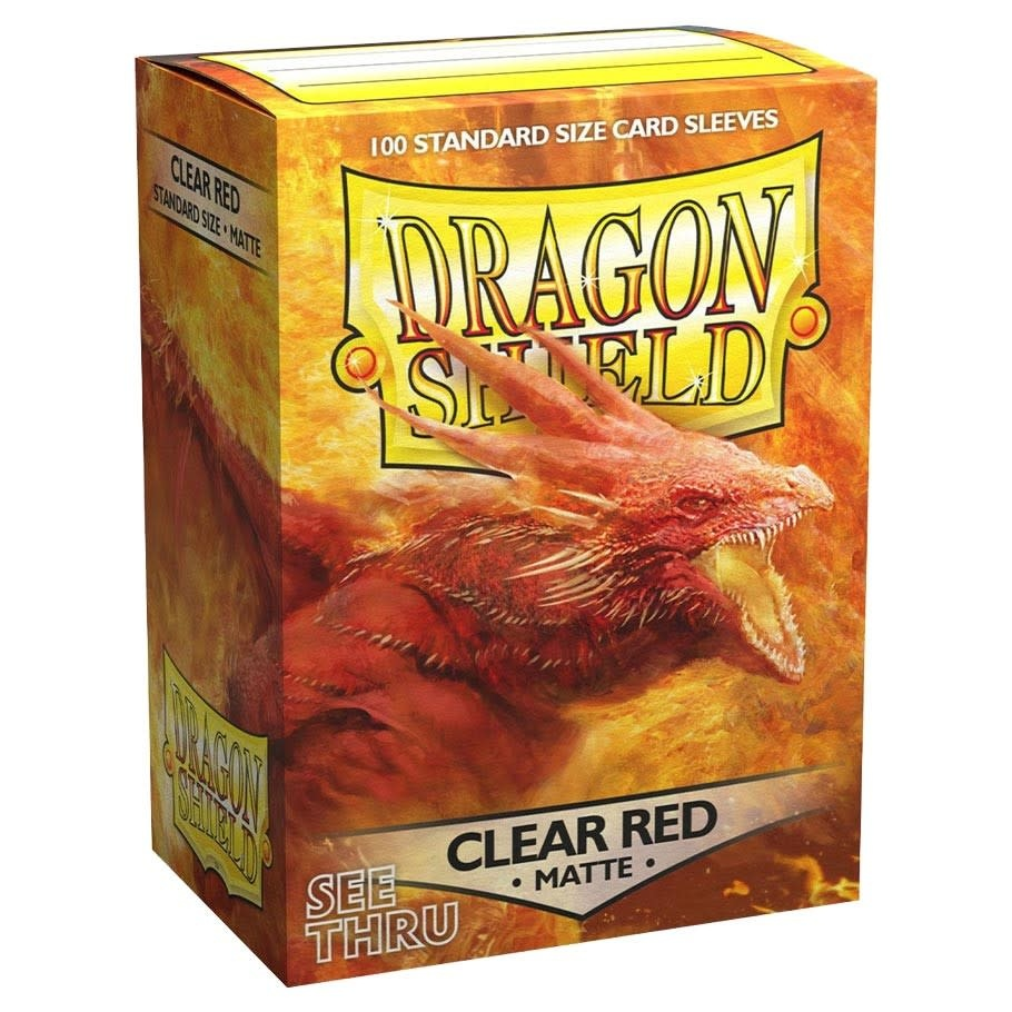 Dragon Shield: 100CT (Matte Clear Red)