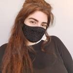 Sparkle Fashion Mask Black
