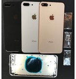 Ip8+ Rose Gold back cover with middle frame & logo