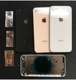Ip8 Rose Gold back cover with middle frame & logo