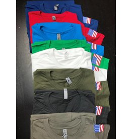 Color T-shirts with flag (X-Lg)