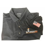 DPF Men Polo Shirts with Flag (Lg) Blue