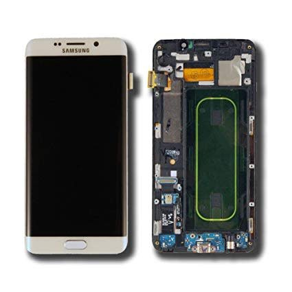S6 Edge+ White LCD With Frame