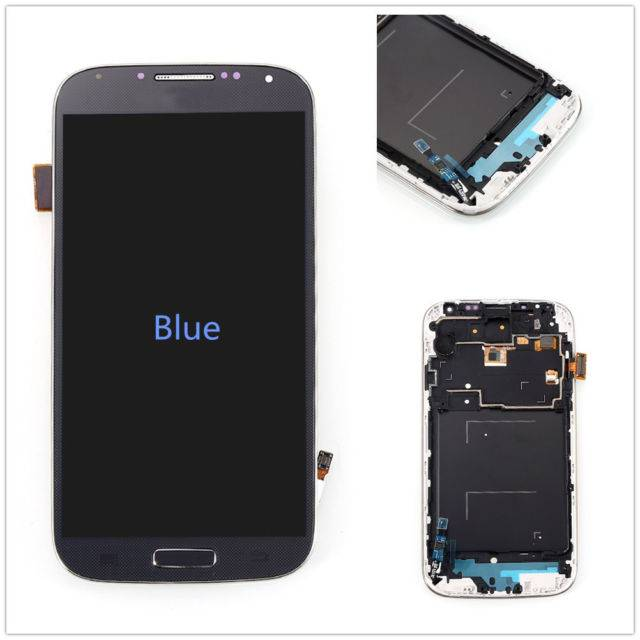 S4 Blue LCD With Frame