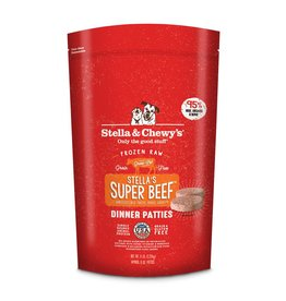 Stella & Chewy's Super Beef Raw Frozen Dinner Patties for Dogs 6lb