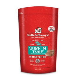 Stella & Chewy's Surf 'N Turf Raw Frozen Dinner Patties for Dogs 6lb