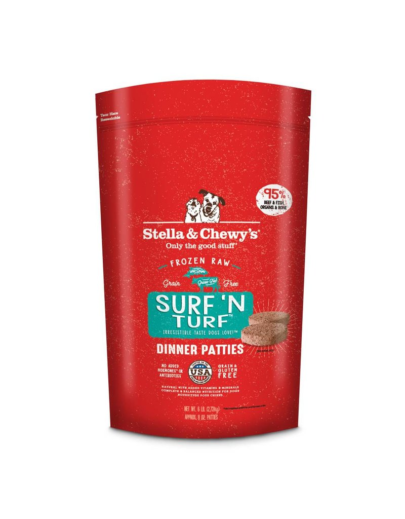 Stella & Chewy's Stella & Chewy's Surf 'N Turf Frozen Raw Dinner Patties for Dogs 6lb