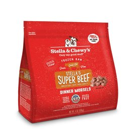 Stella & Chewy's Super Beef Raw Frozen Dinner Morsels for Dogs 4lb