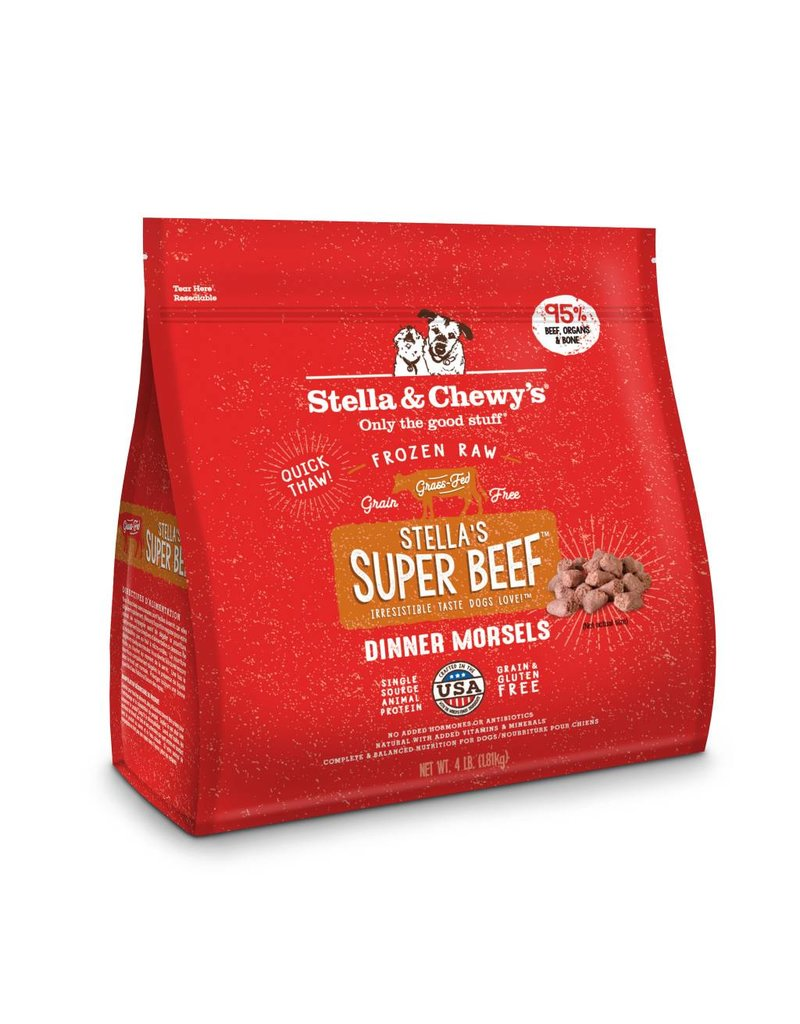 Stella & Chewy's Stella & Chewy's Super Beef Frozen Raw Dinner Morsels for Dogs 4lb