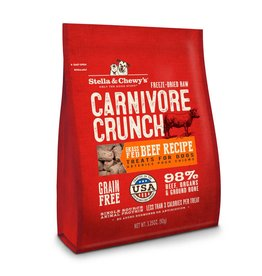 Stella & Chewy's Carnivore Crunch Grass-Fed Beef Recipe Freeze-Dried Dog Treats 3.25oz