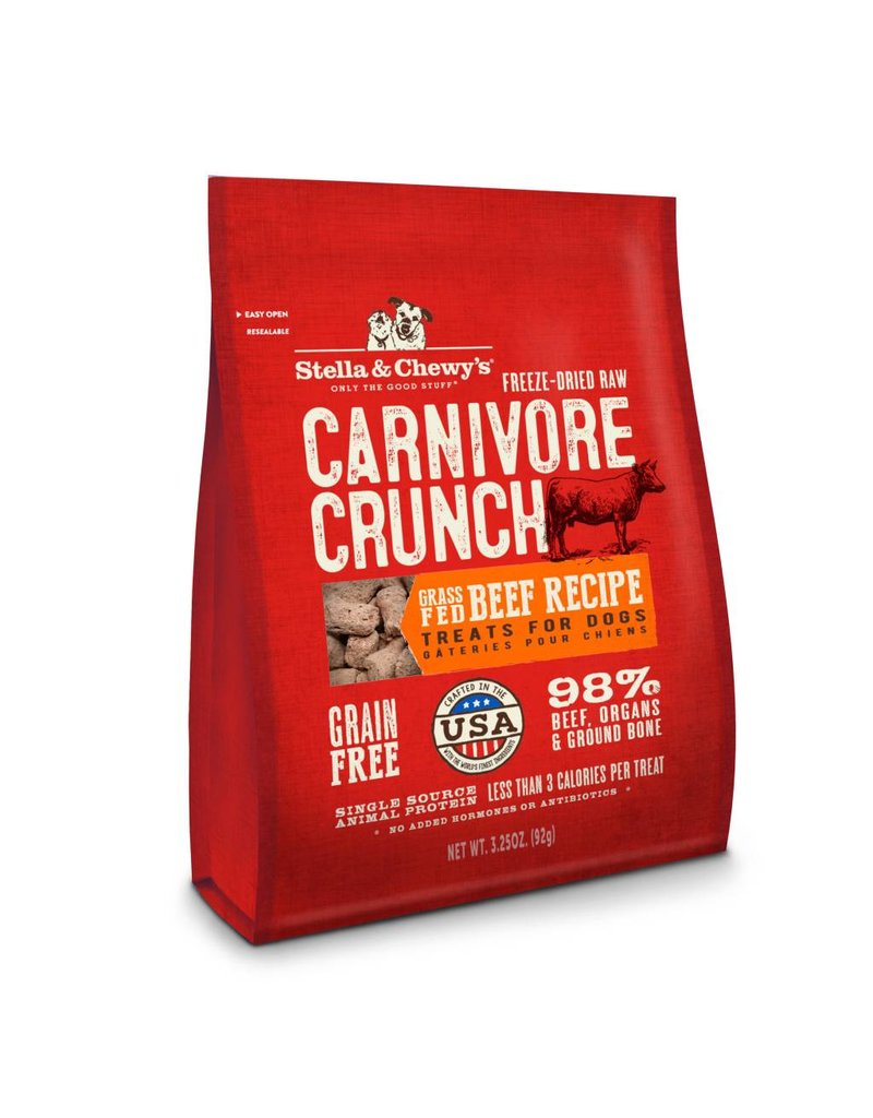 Stella & Chewy's Stella & Chewy's Carnivore Crunch Grass-Fed Beef Recipe Freeze-Dried Dog Treats 3.25oz
