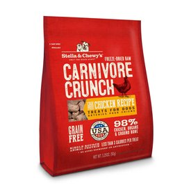 Stella & Chewy's Carnivore Crunch Cage-Free Chicken Recipe Freeze-Dried Dog Treats 3.25oz