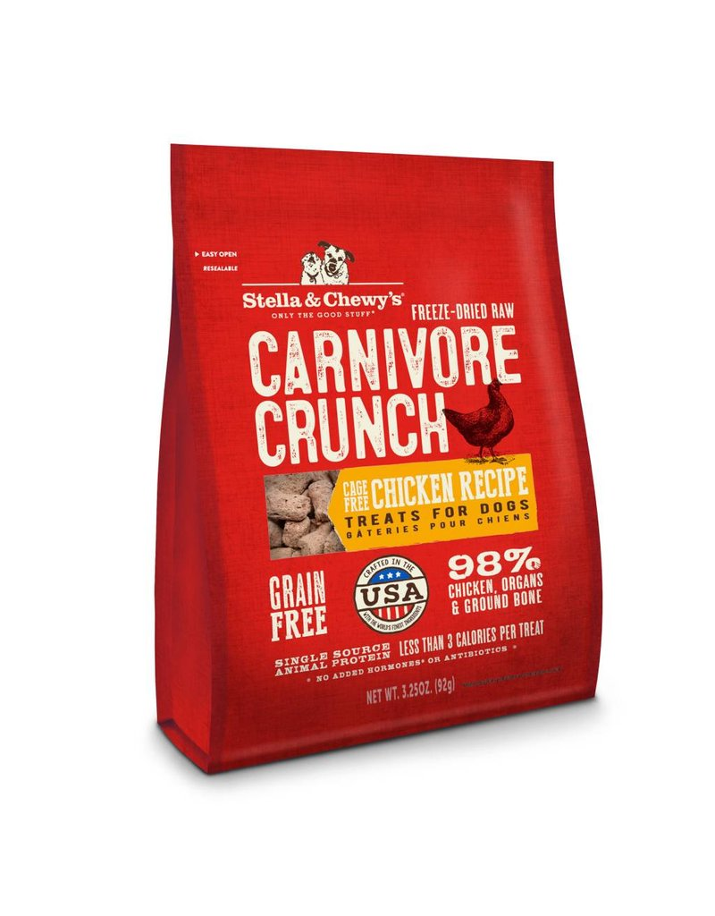 Stella & Chewy's Stella & Chewy's Carnivore Crunch Cage-Free Chicken Recipe Freeze-Dried Dog Treats 3.25oz