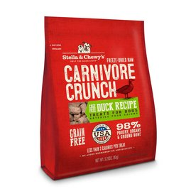 Stella & Chewy's Carnivore Crunch Cage-Free Duck Recipe Freeze-Dried Dog Treats 3.25oz