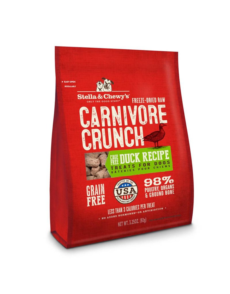 Stella & Chewy's Stella & Chewy's Carnivore Crunch Cage-Free Duck Recipe Freeze-Dried Dog Treats 3.25oz
