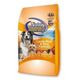 NutriSource Super Premium Pet Foods Lamb Meal & Rice Formula Dry Dog Food - More Choices Available