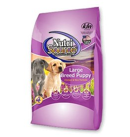 NutriSource Super Premium Pet Foods Puppy Large Breed Chicken and Rice Formula Dry Dog Food - More Choices Available