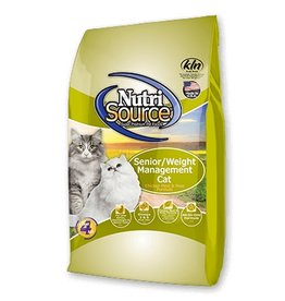 NutriSource Super Premium Pet Foods NutriSource Senior Weight Management Chicken & Rice Dry Cat Food 6.6lb