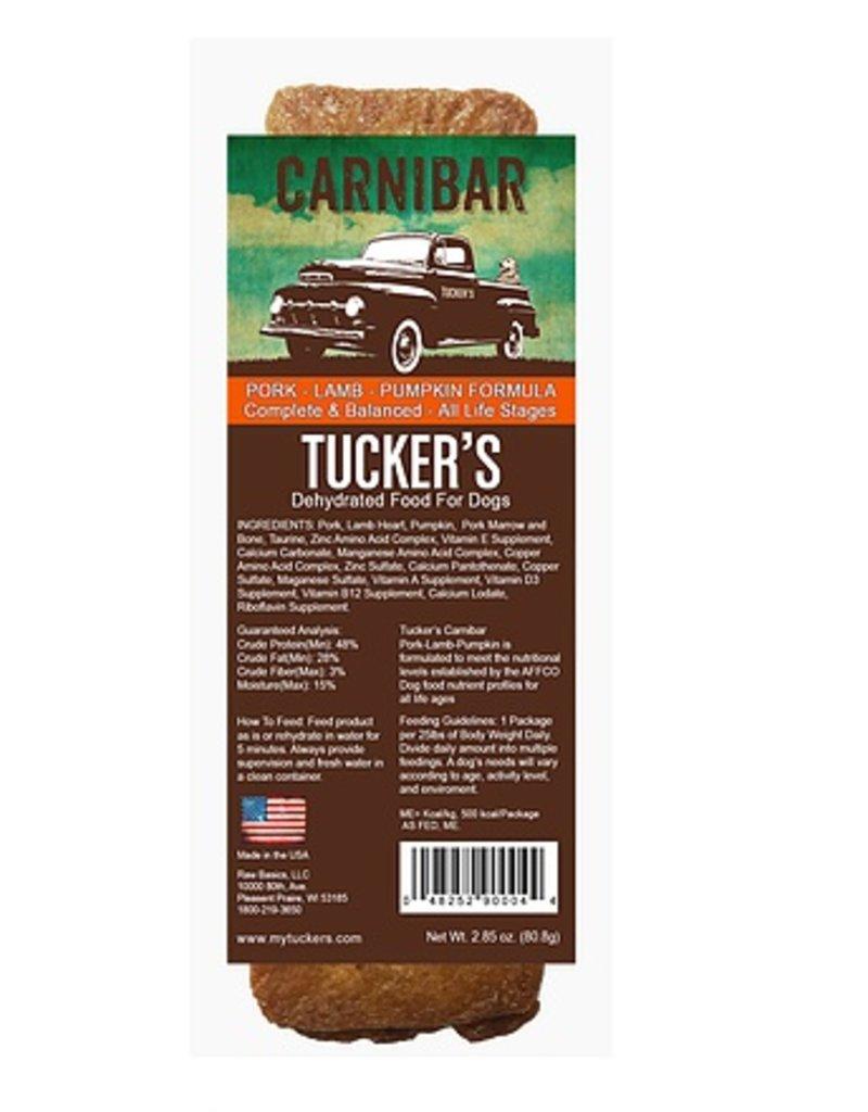 Tucker's Carnibar Dehydrated Pork-Lamb-Pumpkin Food For Dogs 2.85oz