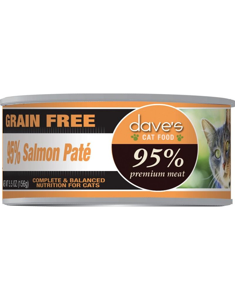 Dave's Pet Food Dave's Pet Food 95% Salmon Pate Canned Cat Food 5.5oz