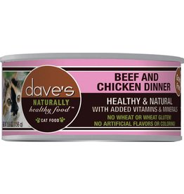 Dave's Pet Food Dave's Pet Food Naturally Healthy Beef & Chicken Dinner Canned Cat Food 3oz