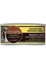 Dave's Pet Food Dave's Pet Food Naturally Healthy Chicken & Herring Dinner Canned Cat Food 5.5oz