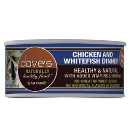 Dave's Pet Food Dave's Pet Food Naturally Healthy Chicken & Whitefish Dinner Canned Cat Food 3oz