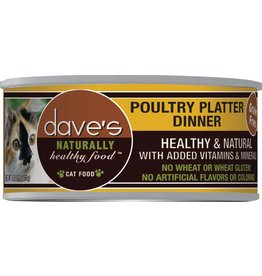 Dave's Pet Food Dave's Pet Food Naturally Healthy Poultry Platter Dinner Canned Cat Food 5.5oz