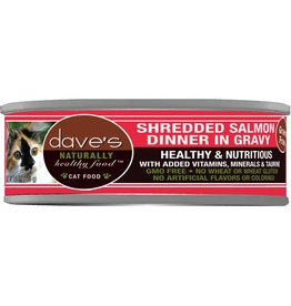 Dave's Pet Food Dave's Pet Food Naturally Healthy Shredded Salmon Canned Cat Food 5.5oz