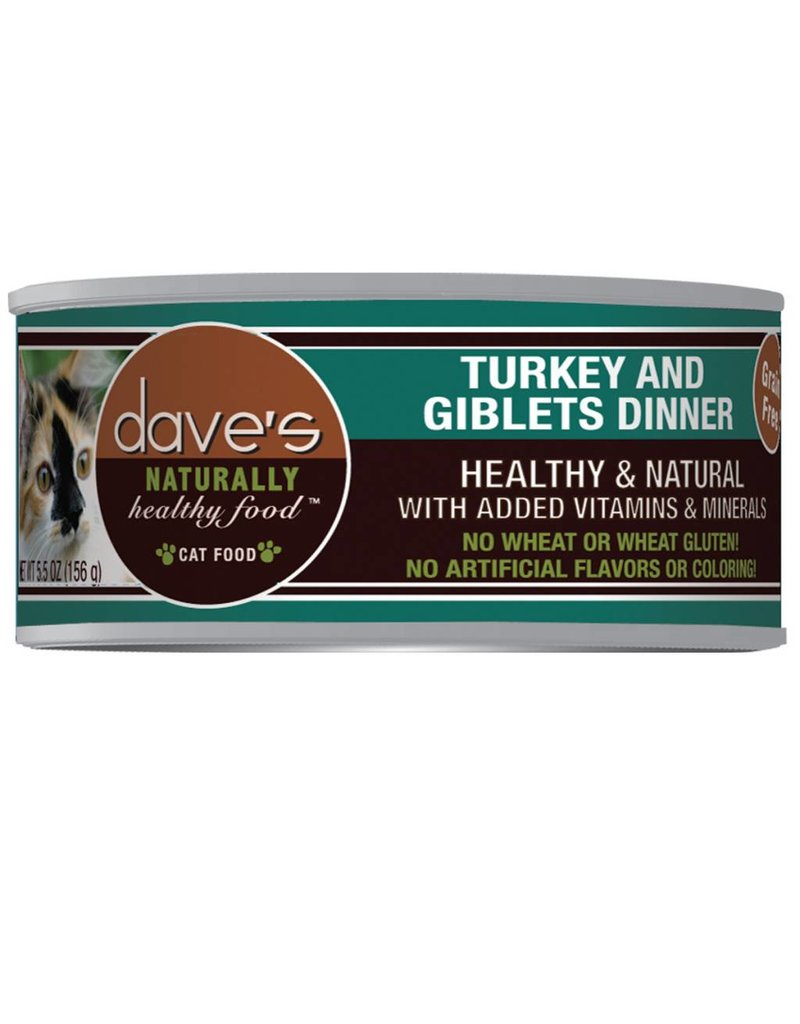 Dave's Pet Food Dave's Pet Food Naturally Healthy Turkey & Giblets Dinner Canned Cat Food 3oz