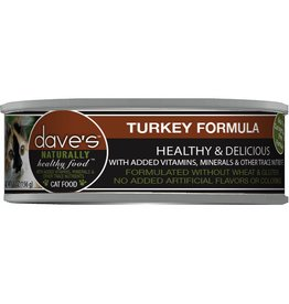 Dave's Pet Food Dave's Pet Food Naturally Healthy Turkey Dinner Canned Cat Food 5.5oz