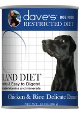 Dave's Pet Food Dave's Pet Food Restricted Diet Bland Chicken & Rice Formula Canned Dog Food 13oz