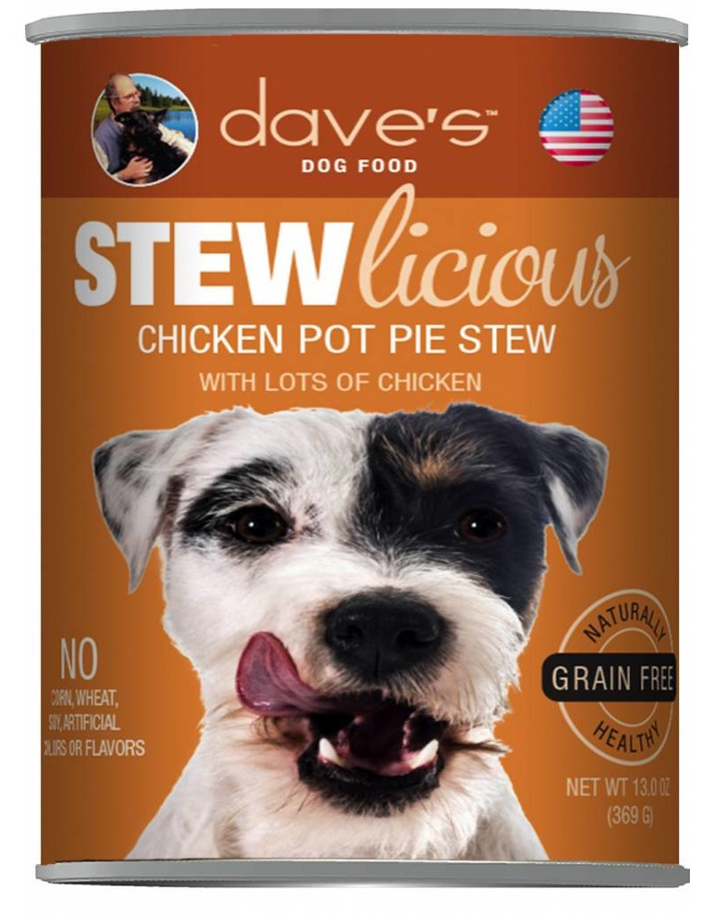 Dave's Pet Food Dave's Pet Food Stewlicious Chicken Pot Pie Stew Canned Dog Food 13oz
