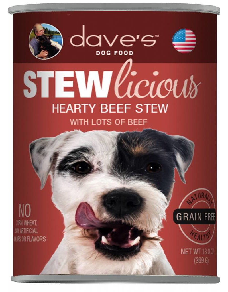 Dave's Pet Food Dave's Pet Food Stewlicious Hearty Beef Stew Canned Dog Food 13oz