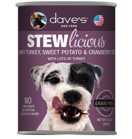 Dave's Pet Food Dave's Pet Food Stewlicious Turkey, Sweet Potato & Cranberry Stew Canned Dog Food 13oz