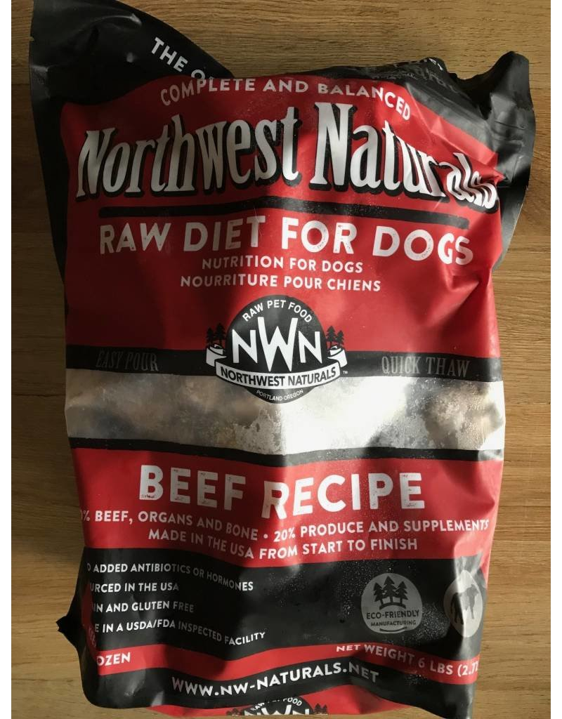Northwest Naturals Raw Frozen Beef Recipe Dog Food Nuggets 6lb